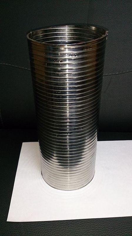 Гофра металлорукава нержавейка d110 длина 265 - цена 340руб